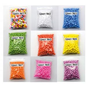 B-0203 Цветные шарики из пенопласта 7-9мм