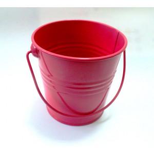КШ-42013  Ведерко металлическое розовое