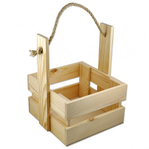 З-009 Ящик деревянный размер 16X18X23
