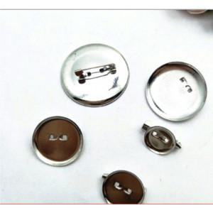 Основа для броши круглая 2,5см хром 10шт/уп.