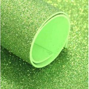 ФГ-03007 Фоамиран глиттерный 60х40см, цвет светло зеленый, 1 лист