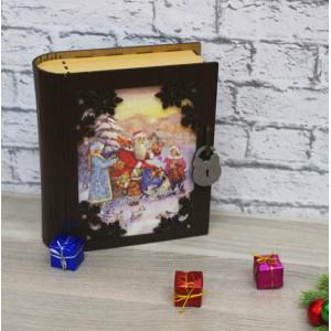 И-НГ-007 Книга шкатулка венге 22,5х20х7,7 см