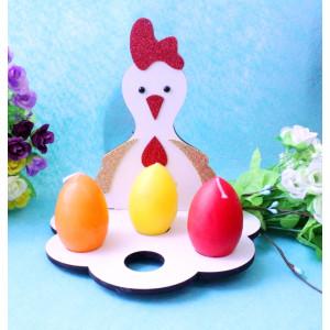 """И-ПП-010 Пасхальная подставка для яиц """"Курочка"""""""