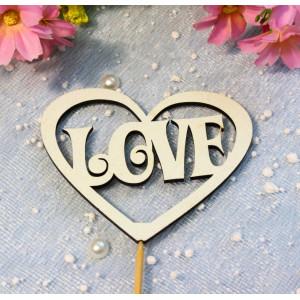 """Т-04-073 Топпер cердце """"Love"""""""