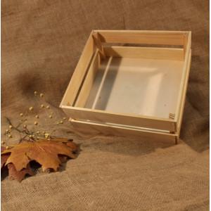 И-ЯЩ-007 Ящик деревянный большой без ручки 28х29х11.5 см