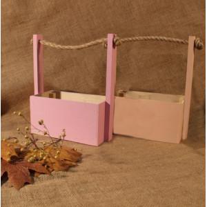 И-ЯЩ-012 Ящик деревянный окрашенный ручка шпагат 25х11х23 см.