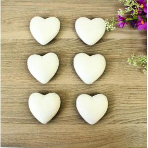 ПЕ-01026 Сердце из пенопласта h=7, 6 шт/уп